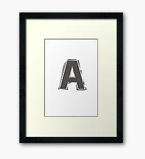 Letter A Framed Print