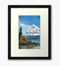 Bob Ross - Happy Accidents Framed Print