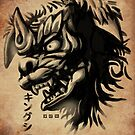 Waterbrushed Shisa by cs3ink