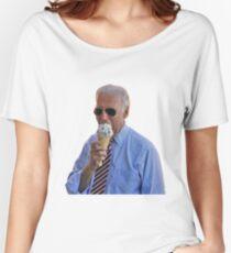 Joe Biden Eating Ice Cream  Women's Relaxed Fit T-Shirt