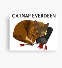 Catnap Everdeen Metal Print
