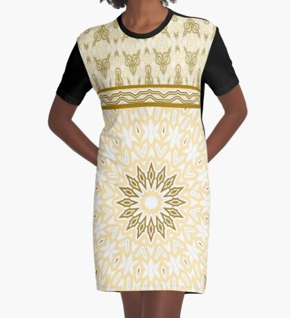 Fox In Golden Royal Graphic T-Shirt Dress