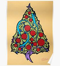 Lizards in the Christmas Tree Poster