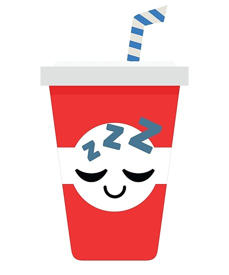 Soft Drink Cup Emoji Sleep And Dream Posters By Teeandmee Redbubble