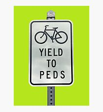 Yield To Pedestrians Photographic Print