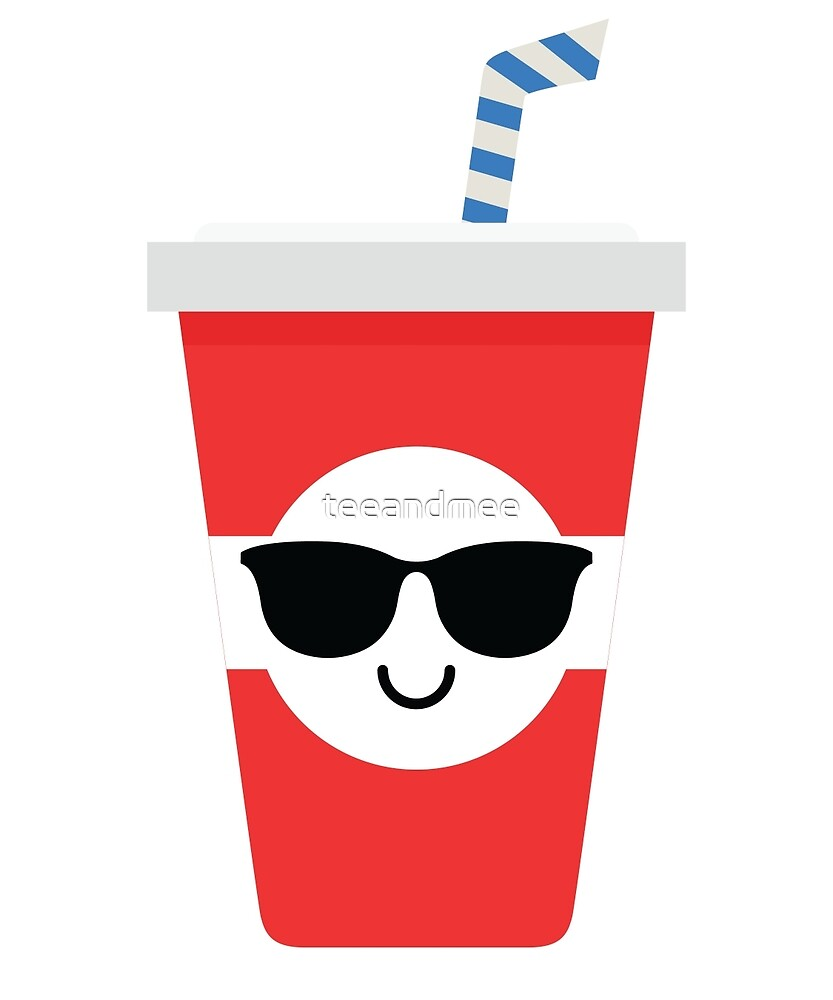 Soft Drink Cup Emoji Cool Sunglasses By Teeandmee Redbubble