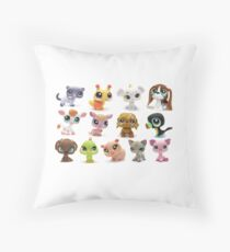 Lily's Little Pet Shop Collection Throw Pillow
