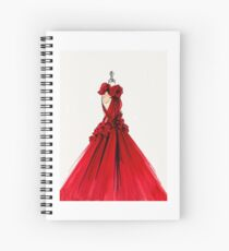 couture rouge Spiral Notebook