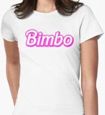 Hot Pink Bimbo Womens Fitted T-Shirt