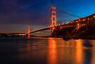 Golden Gate Bridge Last Light by photosbyflood