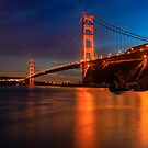 Golden Gate Bridge Last Light by photosbyflood