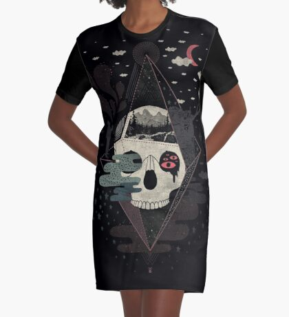 Happy Riddle Graphic T-Shirt Dress