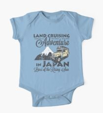 Landcruising Adventure in Japan - Curly font edition One Piece - Short Sleeve