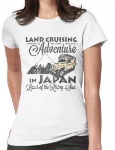 Landcruising Adventure in Japan - Curly font edition Womens Fitted T-Shirt
