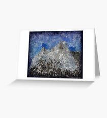 Rock Climbing Cathedral Peak Abstract Greeting Card