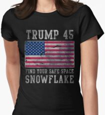 Trump 45 Suck It Up Buttercup Women's Fitted T-Shirt