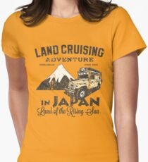 Landcruising Adventure in Japan - Straight font edition Womens Fitted T-Shirt