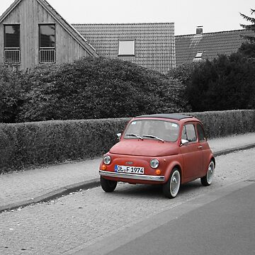 Lonely red car by corro