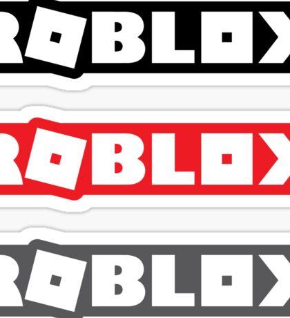 Roblox 2017 Logo stickers x3 [black/red/gray] Sticker