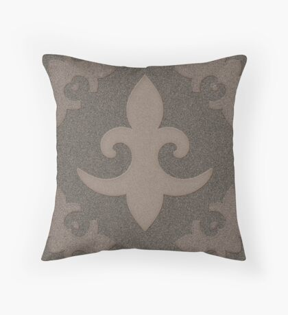 Fleur de Lis by Julie Everhart Throw Pillow