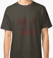 Hail Loki - Runes Classic T-Shirt