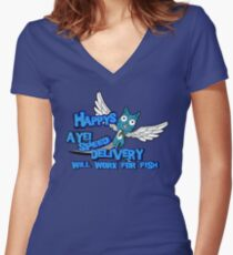 Happy Fairy Tale Women's Fitted V-Neck T-Shirt
