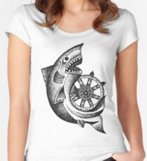 Around The Wheel Women's Fitted Scoop T-Shirt