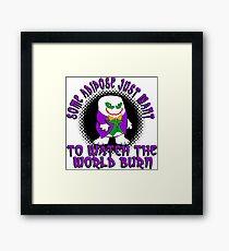 Joker Dr Who Adapoise Framed Print