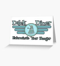 Dalek Diner 2 Greeting Card