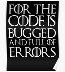 for the code  Poster