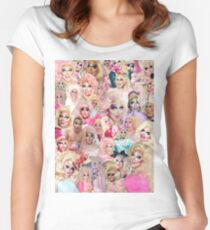Trixie Mattel Collage Women's Fitted Scoop T-Shirt