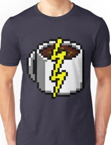 Java Bean Power Re-Up - Pixels Unisex T-Shirt