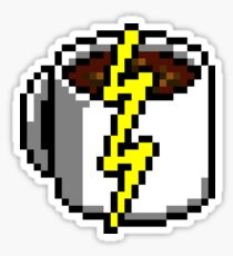 Java Bean Power Re-Up - Pixels Sticker