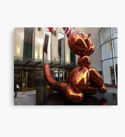 Balloon Monkey, Jeff Koons Artist, Rockefeller Center, New York City Canvas Print