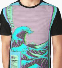 Welle Grafik T-Shirt