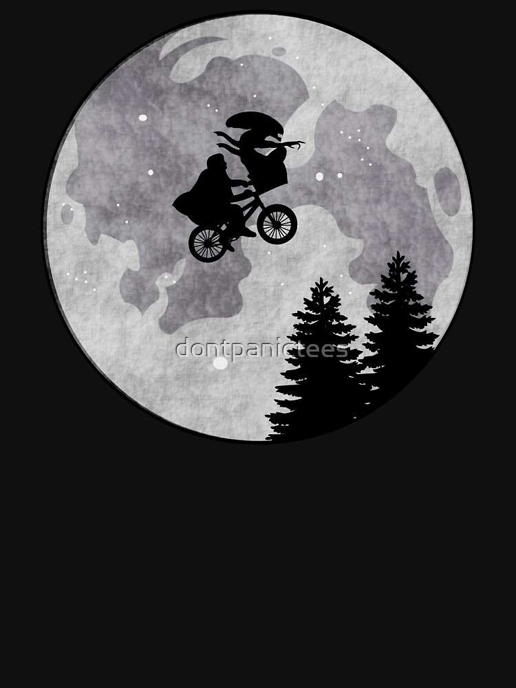 Xenomorph ET Moon Ride by dontpanictees