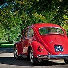Ruby Red VW1300 Beetle - 1966 by Paul Peeters