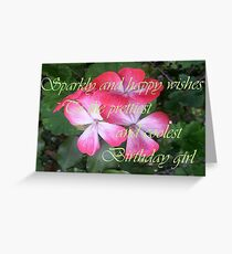 Sparkly and Happy wishes Greeting Card