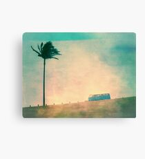 60s VW & Palm Tree Canvas Print