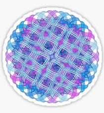 Knitted mandala in blue Sticker