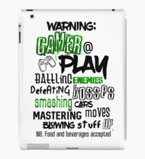 Video Game Gamer Typography iPad Case/Skin