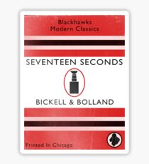 Seventeen Seconds Book Cover Sticker