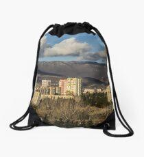 Tbilisi mountainrange Drawstring Bag