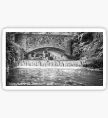 Kearsney Abby Bridge (black and white) Sticker