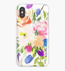 Watercolor Floral Bouquet Mixed Flowers iPhone Case/Skin