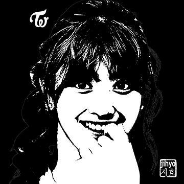 twice jihyo - threshold (on black) by theultrafan