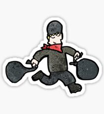 cartoon bank robber Sticker