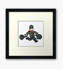 cartoon bank robber Framed Print