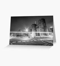 Westgate Towers (black and white) Greeting Card