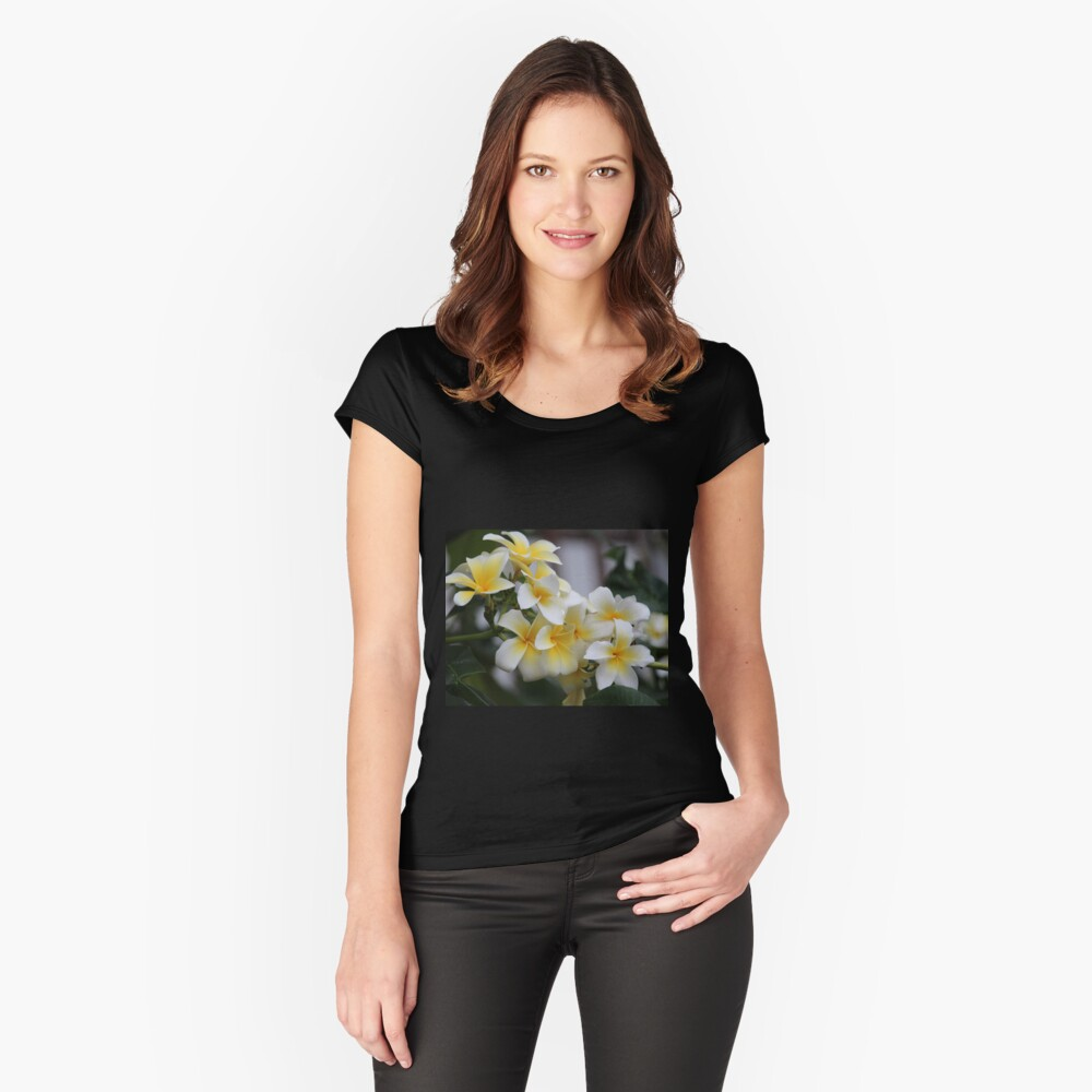 Beautiful Tropical Flowers 1 Women's Fitted Scoop T-Shirt Front